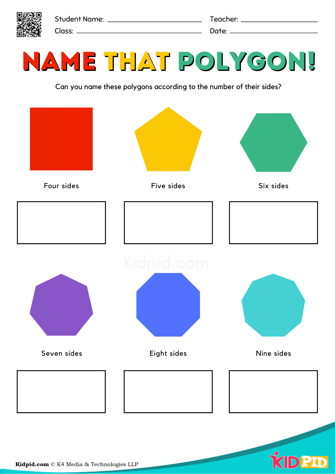 Name That Polygon Free Printable Worksheet