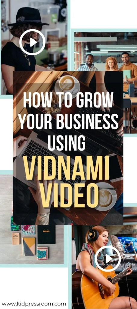 Vidnami video creator for growing your business - KIDPRESSROOM