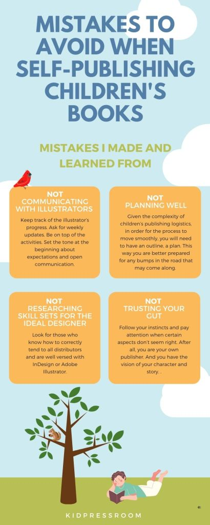 Mistakes to Avoid When Self-Publishing Children's Picture Books Infographic - KIDPRESSROOM