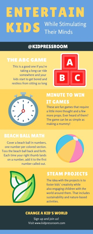 Infographic on Ways to Entertain Kids - KIDPRESSROOM