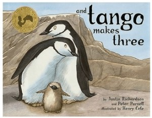 children's books featuring LGBTQ+ characters And Tango Makes Three by Peter Parnell and Justin Richardson