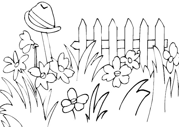 KidPrintables.com Spring Coloring Pages