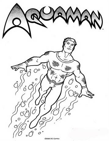 aquaman coloring pages # 1