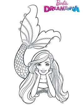 Kids N Fun Com 26 Coloring Pages Of Barbie Dreamtopia