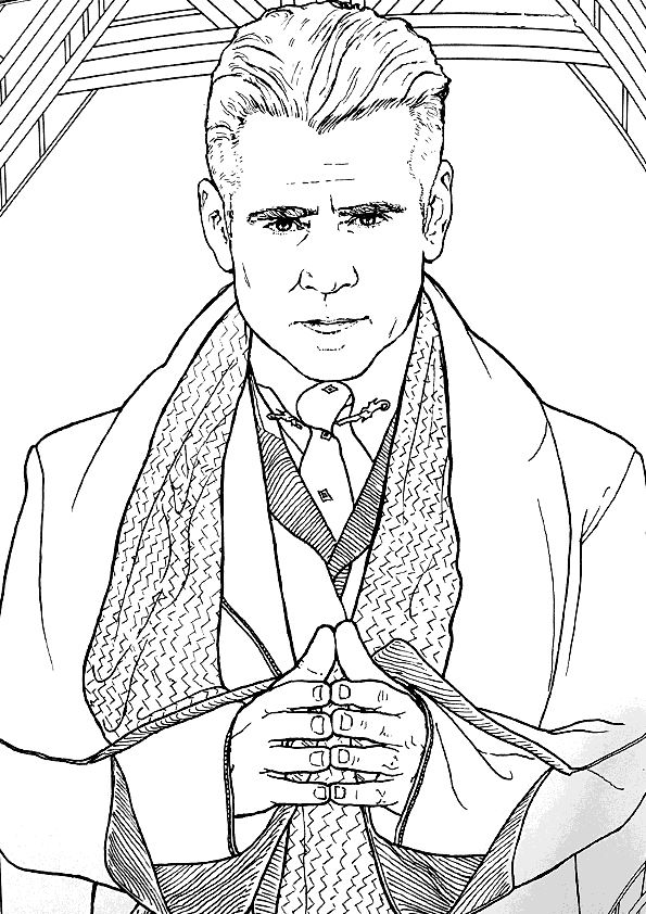 21 Coloring Pages Of Fantastic Beasts And