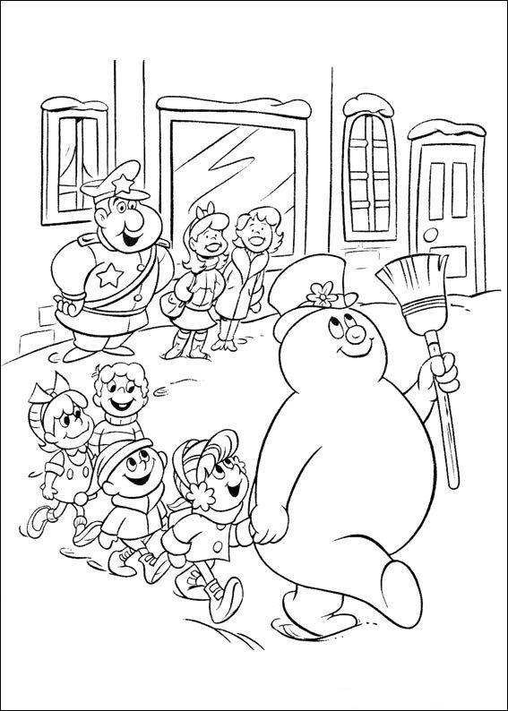 24 Coloring Pages Of Frosty The Snowman