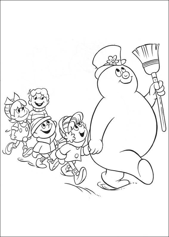 kidsnfun  coloring page frosty the snowman frosty
