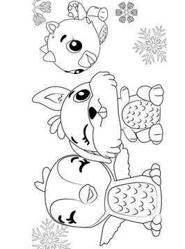 Kids N Fun Com 27 Coloring Pages Of Hatchimals