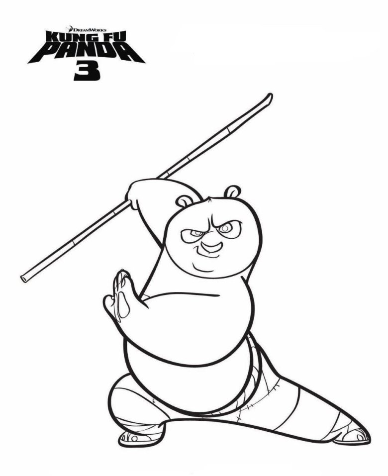 kids-n-fun | 7 coloring pages of kung fu panda 3