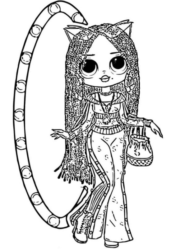 Kids N Fun Com Coloring Page L O L Surprise Omg Dolls Lol Surprise Doll Omg 5