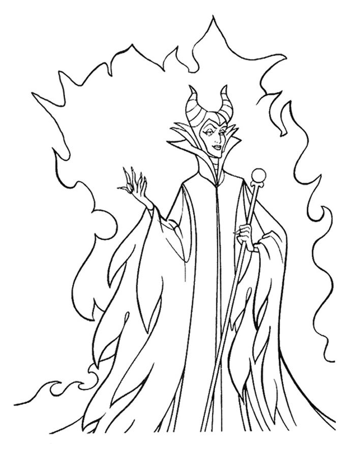 kidsnfun  11 coloring pages of maleficent