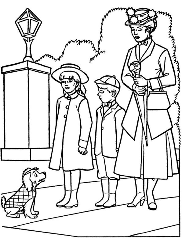 kidsnfun   coloring pages of mary poppins