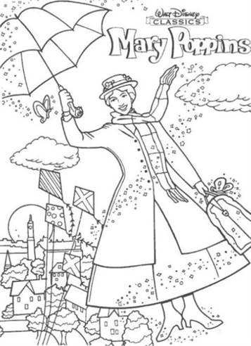 mary poppins coloring pages # 0