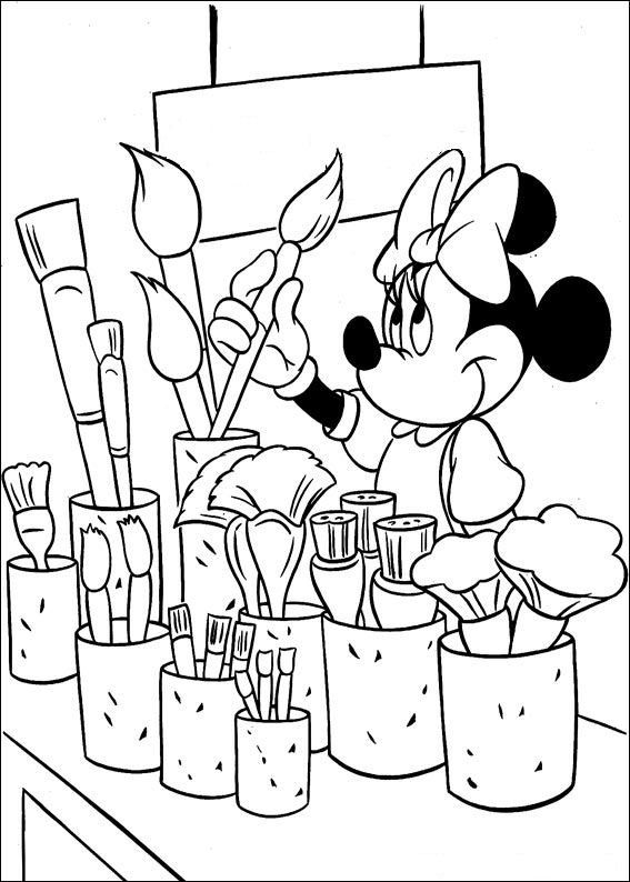kidsnfun  38 coloring pages of minnie mouse