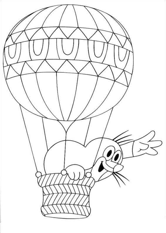Easy Mole Coloring Pages