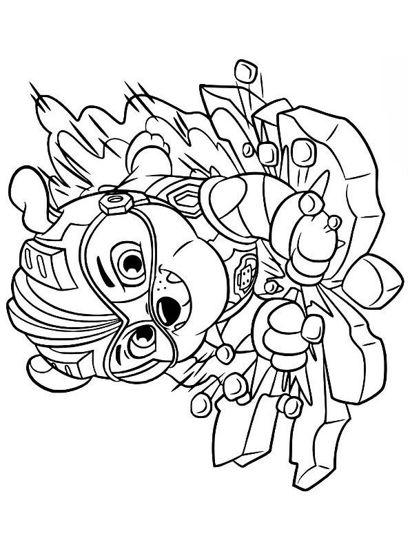 Kids N Fun Com Coloring Page Paw Patrol Mighty Pups Mighty Pups Rubble