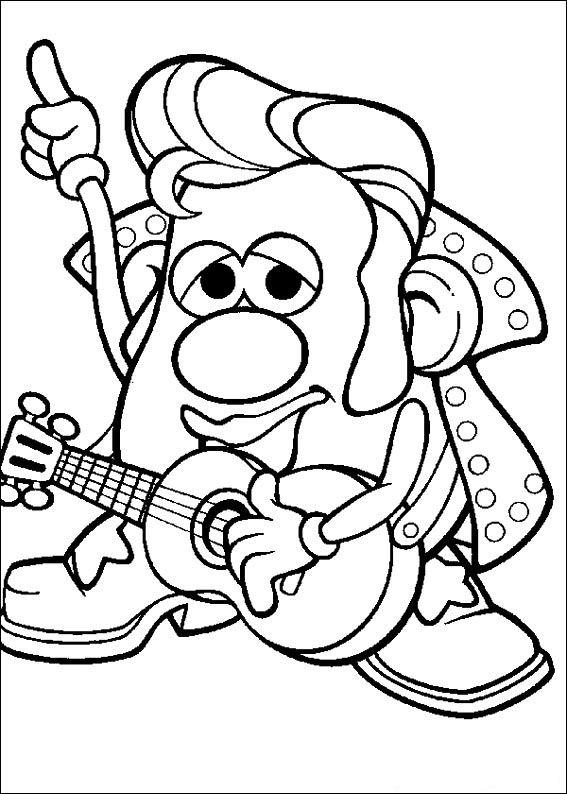 Mr Potato Head Parts Printables Sketch Coloring Page