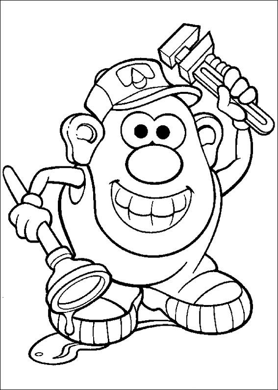 mr potato head coloring pages # 29