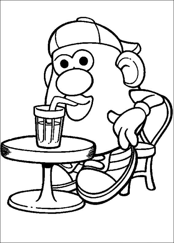 kidsnfun  57 coloring pages of mr. potato head