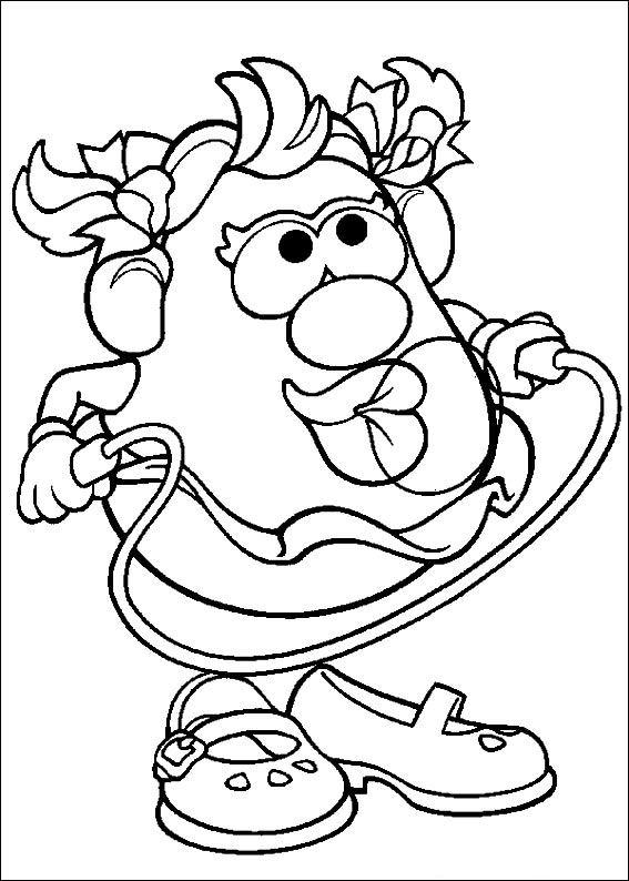 Mr Potato Head Quiet Book Template Sketch Coloring Page