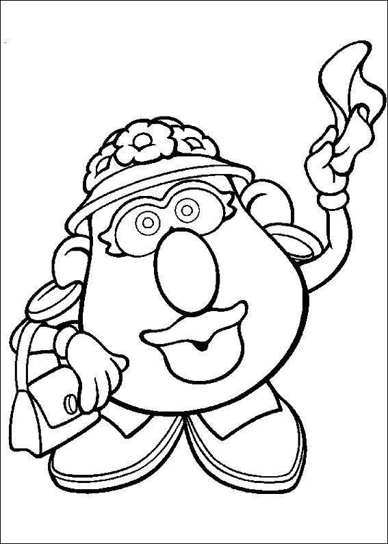 57 Coloring Pages Of Mr Potato Head