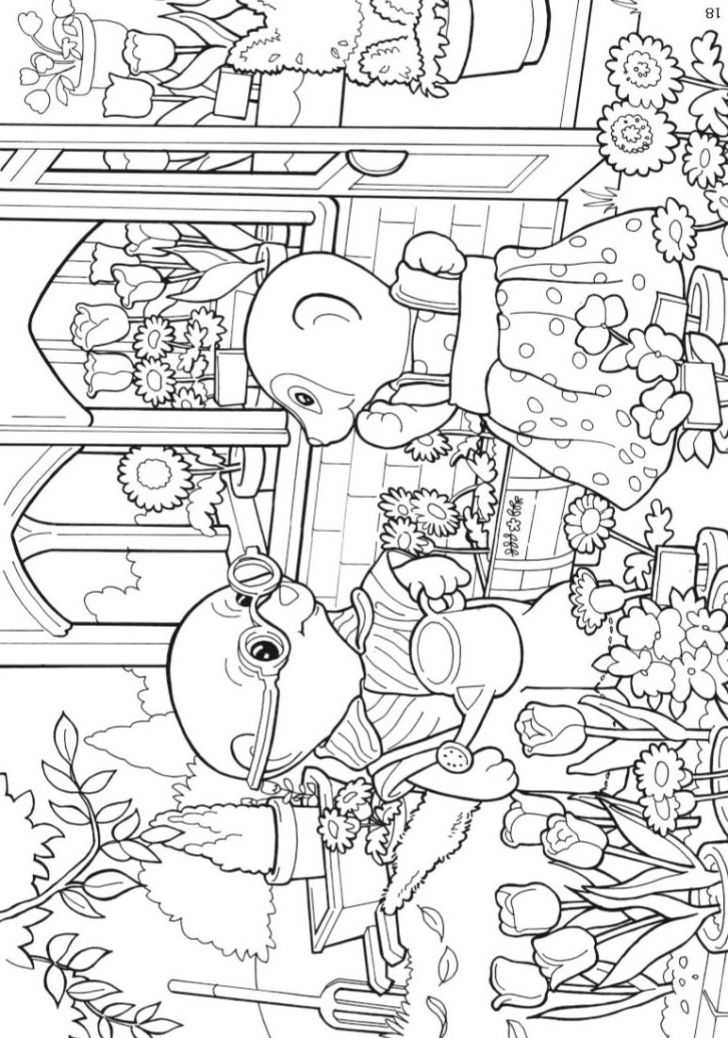 Animals And Flowers: Coloring Pages Kids N Fun. Kidsnfuncom Coloring Pages Of Calico Critters Wallpaper Hd For Kids Fun Computer High Quality