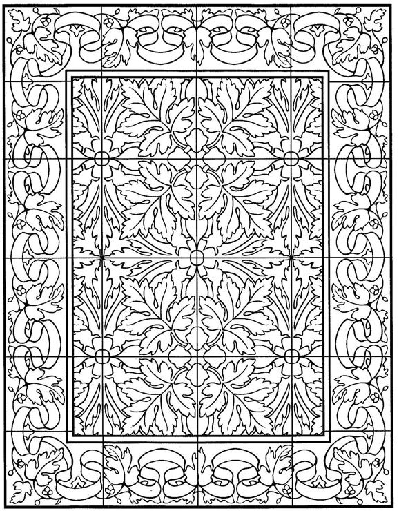 Coloring Page Tiles Tiles