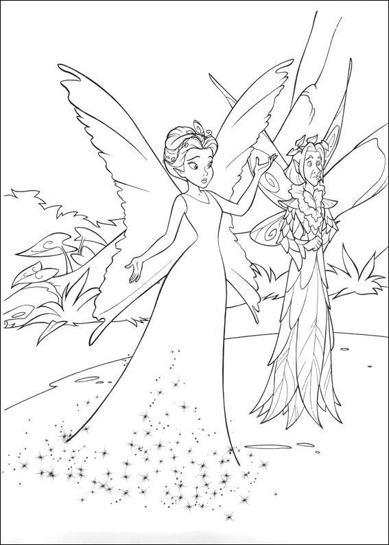 Kids-n-fun 58 coloring pages of Tinkerbell