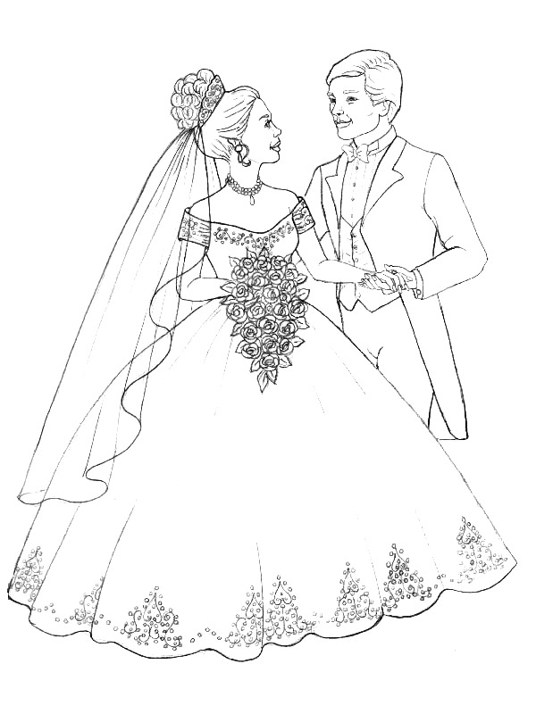 Kidsnfuncom  34 coloring pages of Marry and Weddings