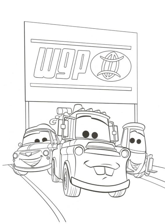 Kids-n-fun Malvorlage Cars 2 Cars 2