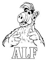 Kids n fun.de   Malvorlage Alf Alf