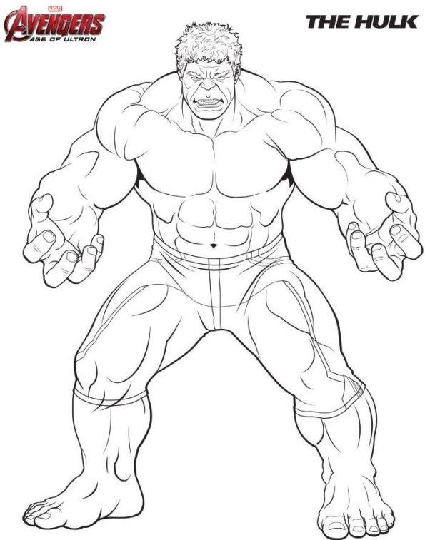 Kids-n-fun Malvorlage Die Rächer (Avengers) Hulk