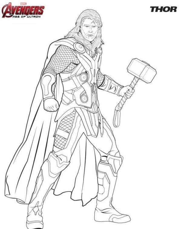 Kids-n-fun Malvorlage Die Rächer (Avengers) Thor