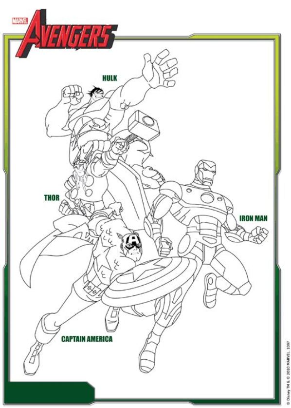 Kids-n-fun Malvorlage Die Rächer (Avengers) Avengers