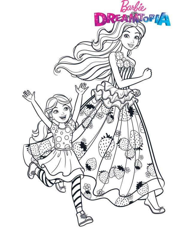Kids-n-fun Malvorlage Barbie Dreamtopia Barbie Chelsea