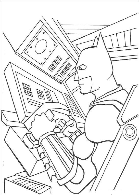 Kids-n-fun Malvorlage Batman Batman