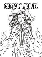 Kids n fun.de   Malvorlage Captain Marvel Captain Marvel