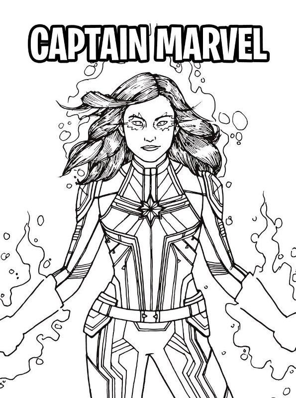 Kids-n-fun Malvorlage Captain Marvel Captain Marvel
