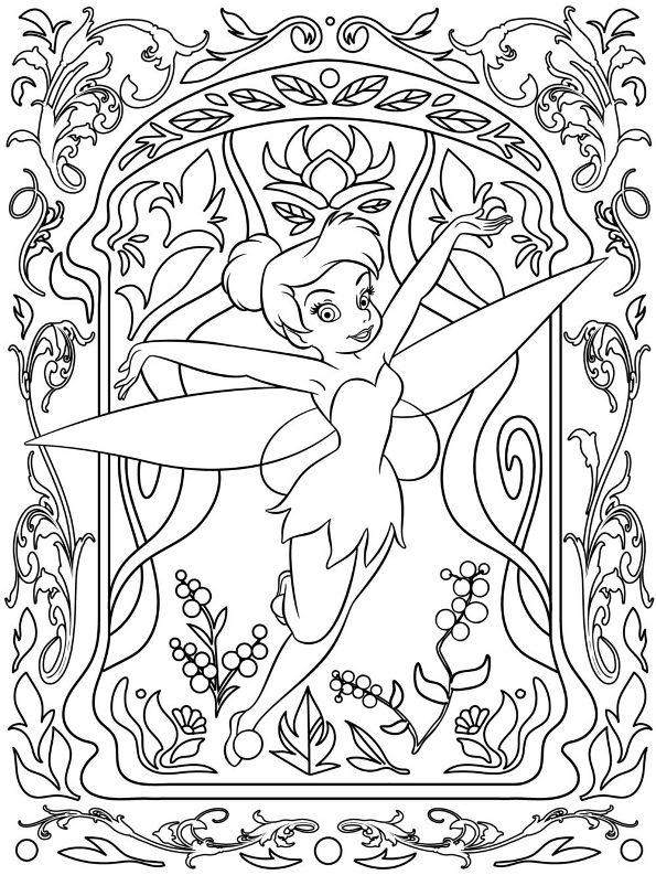 Kids-n-fun Malvorlage Disney schwierig Tinkerbell