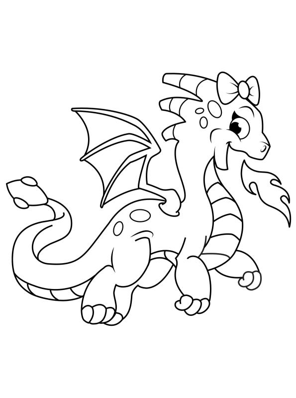 Kids-n-fun Malvorlage Drachen Drache 4