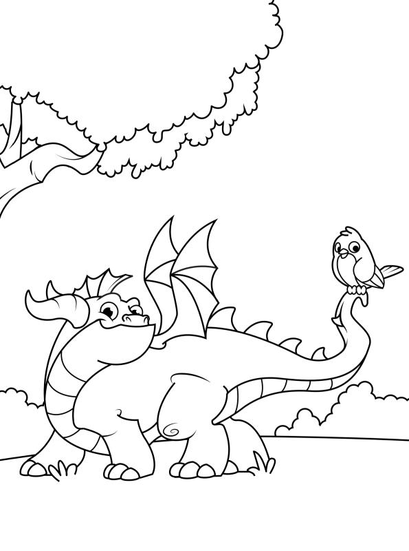 Kids-n-fun Malvorlage Drachen Drache 5