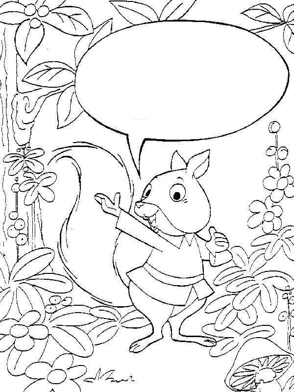 Kids-n-fun Malvorlage Eichhörnchen Eichhörnchen