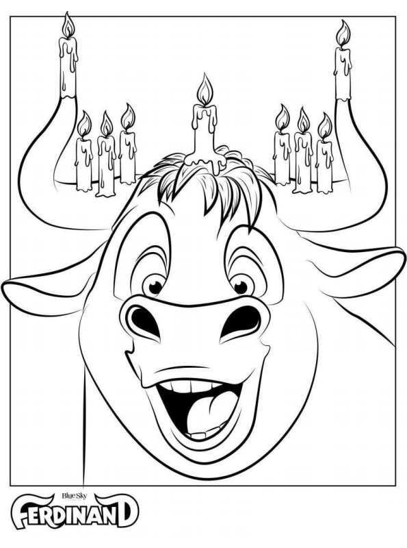 Bull Coloring Page Coloring Pages