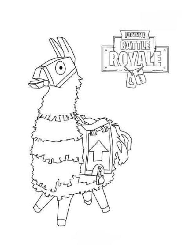 Kids-n-fun Malvorlage Fortnite fortnite battle royale 1
