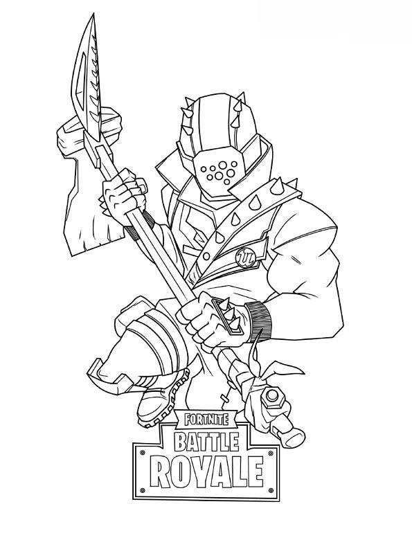 Kids-n-fun Malvorlage Fortnite master grenadier