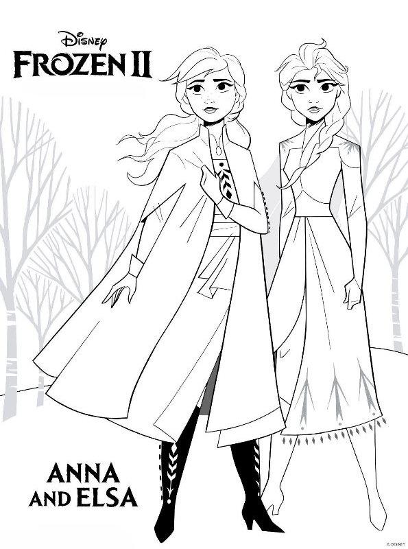 Kids-n-fun Malvorlage Frozen 2 Frozen 2 Anna Elsa