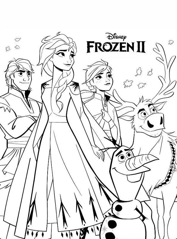 Kids-n-fun Malvorlage Frozen 2 Frozen 2