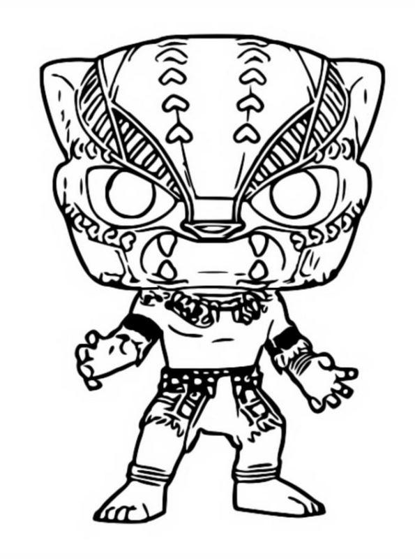 Kids-n-fun Malvorlage Funko Pops Marvel Black panther