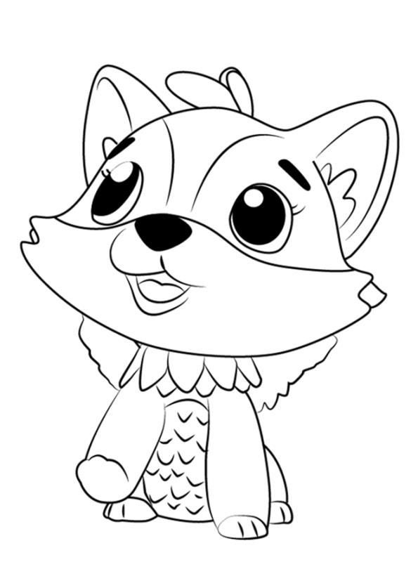 Kids-n-fun Malvorlage Hatchimals Fuchs