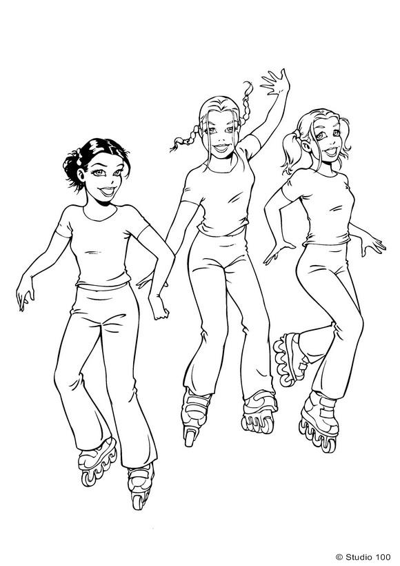 Kids-n-fun Malvorlage K3 K3